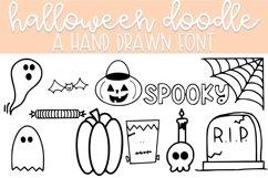 Halloween Doodle Font   Doodle Font Product Image 1