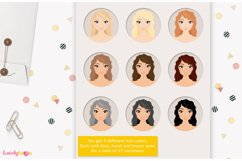 Crafty woman character clipart LVC60 Prim Product Image 3