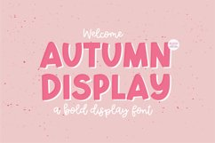 AUTUMN DISPLAY Bold Font Product Image 1