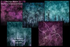Savage Storm Maroon and Green Edition Backgrounds Set Product Image 3