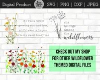 Wildflower Floral Botanical Hand Drawn SVG PNG JPG DXF Product Image 6
