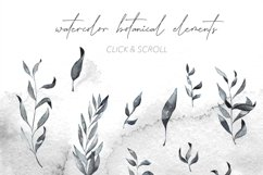 Smokey Watercolor Botanical Leaves - PNG and SVG Artwork Product Image 3