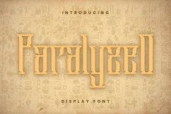 Paralyzed Font Product Image 1