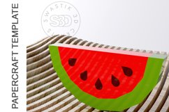 PDF Template Of 3D Watermelon Papercraft lowpoly SVG DXF Product Image 3