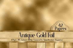 42 Antique Gold Foil Papers Product Image 1