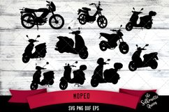 Moped svg file, scooter svg cut file, silhouette studio Product Image 1