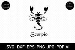 Scorpio zodiac sign svg, dxf, cut file, clip art,sublimation Product Image 1