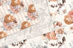 Peachy Floral Digital Paper Product Image 4
