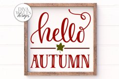 Hello Autumn SVG | Farmhouse Sign | DXF and More Product Image 1