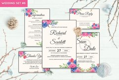 Wedding Invitation Set #8 Watercolor Floral Flower Style Product Image 1