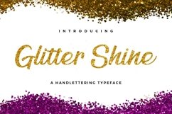 Web Font Glitter Shine Product Image 1