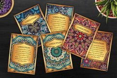 Mandala ethnic cards vector templates set. Product Image 6