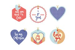 Happy Valentines Day Labels Product Image 1