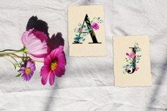 Romantic watercolor floral Monogram, Alphabets & Numbers set Product Image 4