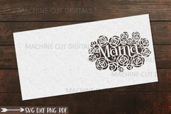 Mama Mothers Day card paper cut template svg dxf Product Image 5