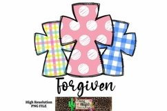 Easter Forgiven Hand Drawn Doodle Dye Sublimation PNG Product Image 1
