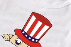 4th of July Peeking Baby SVG, baby svg, maternity svg, funny pregnancy t shirt, peeking baby t shirt, 4th of july SVG, patriotic svg Product Image 4