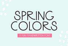 Spring Colors - A Fun Handwritten Font Product Image 1