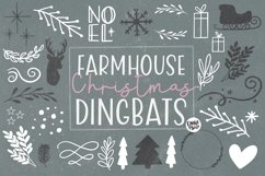 Farmhouse Christmas Dingbats Product Image 1