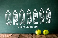 Graders - A School Font Perfect For Teachers & Students! Product Image 1