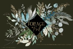 Foliage and Foil Botanical Clipart Product Image 3