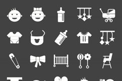 50 Baby Glyph Inverted Icons Product Image 2
