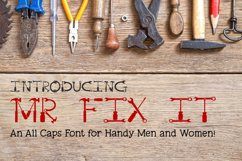 Mr Fix It - A Tool Font for Handy Men and Women Product Image 1