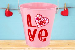 Love Be Mine with Heart SVG DXF PNG Product Image 1
