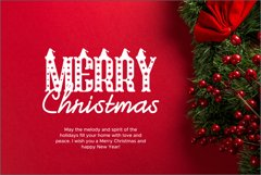 Christmas Hat Font | merry christmas font Product Image 2