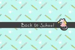 Back to School Digital Paper, School girl paper Product Image 2