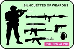 Set of weapon silhouettes Product Image 1