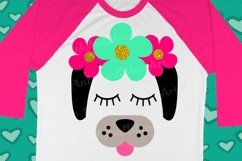 Dog Flowers Summer Girl SVG Design  Product Image 1