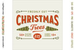 Freshly Cut Christmas Trees - Rustic Farm Wood Sign SVG file Product Image 3