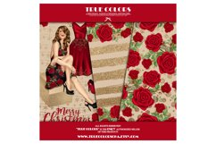 Christmas Digital Paper Pack Fashion Clipart Fashion Blogger Product Image 6
