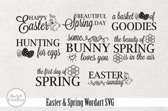 Easter / Spring Wordart SVG Product Image 2
