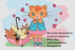 CUTE AUTUMN KITTY Clipart Pattern Alphabet Vector Animation Product Image 4