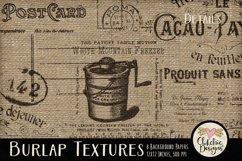 Burlap Background Textures - Rustic Burlap Backgrounds Product Image 2