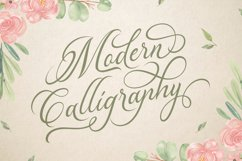 Madelican Calligraphy Font Product Image 2