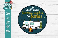 Life Needs More Starry Nights and Bonfires RV SVG Product Image 2