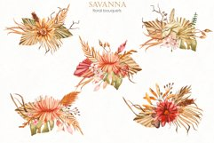 Savanna dried flowers and leaves Watercolor Product Image 5