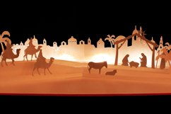 Nativity scene simple style pop up card Product Image 1