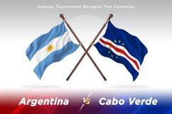 Argentina vs Cabo Verde Two Flags Product Image 1