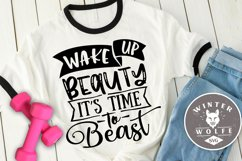 Wake up beauty it's time to beast SVG EPS DXF PNG Product Image 1