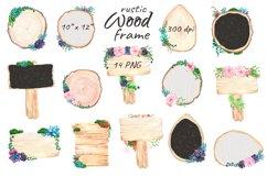 Flower Wood Sign Board Rustic Chalkboard Product Image 2