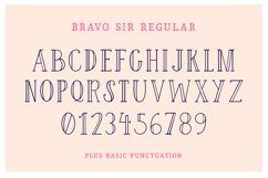 Bravo Sir Font Family Product Image 4