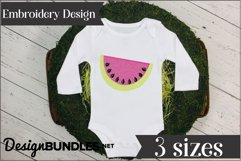 Watermelon Applique Embroidery Design Product Image 1
