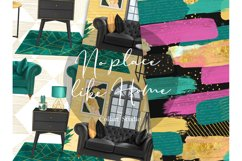 Home digital paper, furniture papers, seamless patterns Product Image 3