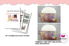 4 Style Pouch Template, Sew or No Sew Clutch, Mask Holder Product Image 4