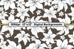 White Lillies - 16 Digital Papers/Backgrounds Product Image 4