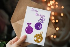Christmas tree balls clipart,Gold christmas balls Product Image 3